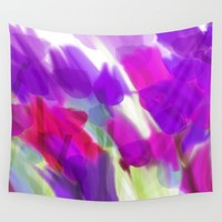 Meadow Flowers Abstract 2 Wall Tapestry by Jen Warmuth Art And Design