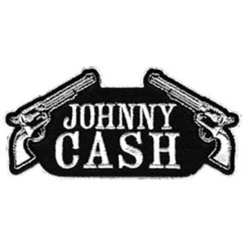 Johnny Cash Men's Guns Embroidered Patch Black