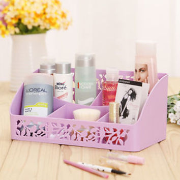 Fashion Desk Organizer Makeup Cosmetics Organizer Storage Box Stationery Holder