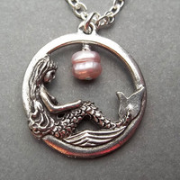 Mermaid Necklace Christmas Gift  Beach Jewelry  Ocean Jewelry  Friendship Gift