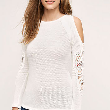 Elsinora Open-Shoulder Lace Top