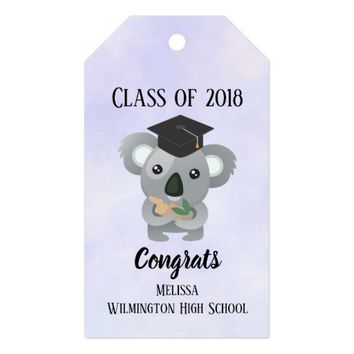 Class of 20xx Cute Koala Bear in Graduation Cap Gift Tags