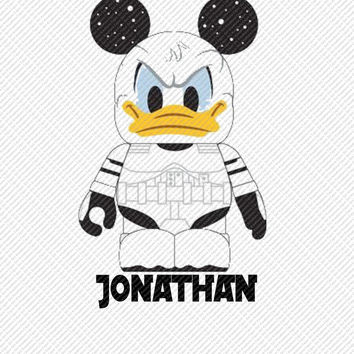 Donald Duck Storm Troopers Star Wars Personalized with Name Printable Digital Iron On Transfer Clip Art Tshirts Instant Downl