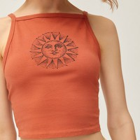 Truly Madly Deeply High-Neck Cropped Tank Top | Urban Outfitters