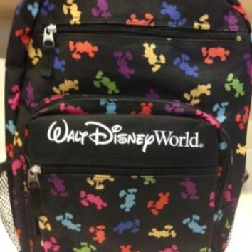 Walt Disney World Mickey Mouse Colorful Icon Backpack NEW