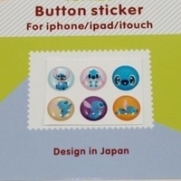 6PCS Disney Stitch Home Button Sticker for iPhone iPad iPod 1 2 3 4G 4S 5 5S 6