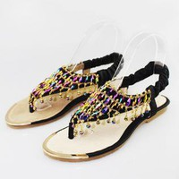 Colorful Braided Flat Sandals QR060506