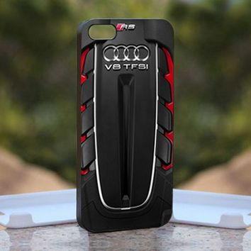 Audi RS 6 Avant Engine, Print on Hard Cover iPhone 4/4S Black Case
