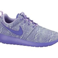 Nike Roshe Run Print 3.5y-7y Girls' Shoes - Pure Platinum