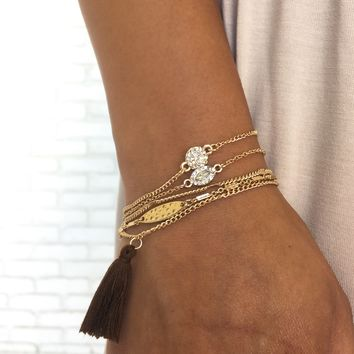 Oh So Cute Fringe Bracelet Set
