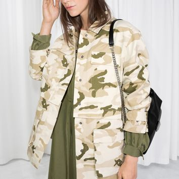 & Other Stories | Camo Army Jacket | Light Camo