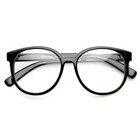 Large Round P3 Vintage Inspired Clear Lens Glasses 9425