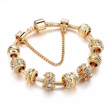 CHICVIE Handmade Gold Charm Bracelet - Available in Various Styles