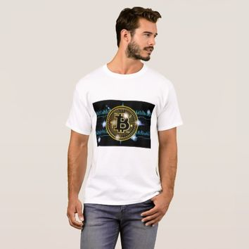 Cool Bitcoin logo with graph t shirt