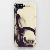 White Horse iPhone & iPod Case by Msimioni