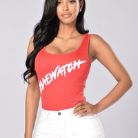 Baewatch Bodysuit - Red
