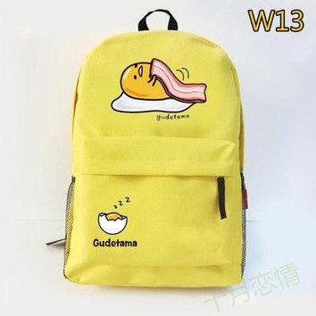 University College Backpack Anime gudetama Cos 2017 new  wind cartoon men and women leisure large capacity  travel packageAT_63_4