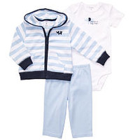 """Carter's Boys """"Mommy's Big Man"""" 3 Piece Set with Hooded Cardigan, Bodysuit and Pant"""