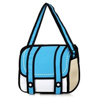 jeansian 3D Jump Style 2D Drawing From Cartoon Paper Comic Satchel Bag WBH002