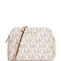 Michael Michael Kors Large Signature Print Cindy Dome Crossbody