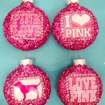 Victoria's Secret PINK Ornament Set