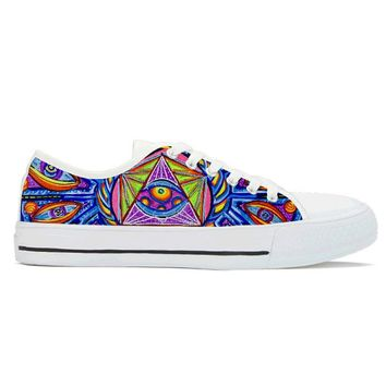 Dragonfly Fractalus by Alex Aliume - Low Top Canvas Shoes
