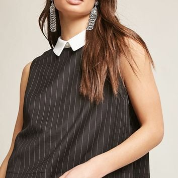 Pinstripe Collar Top