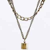 Double Row Crystal Statement Necklace in Gold - Urban Outfitters