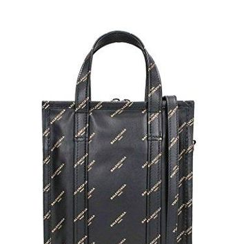 Balenciaga Black Bazar Shopper AJ XS Tote Bag Black/Gold Leather Italy Tote New