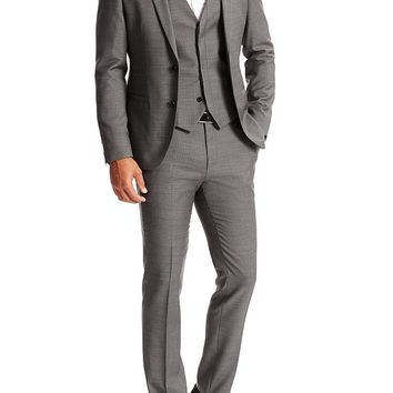 'Awet/Wans/Hambrey' | Slim Fit, Super 100 Virgin Wool 3-Piece Suit by HUGO