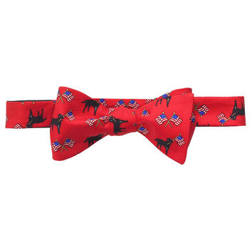 Labs & Flags Bow Tie in Red by Southern Proper