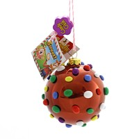 Holiday Ornaments Candy Crush Color Bomb Glass Ornament