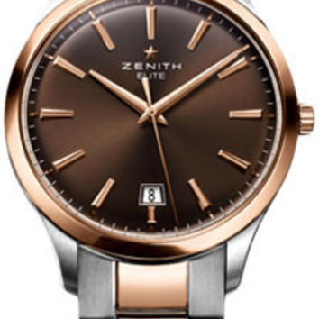 Zenith - Elite Captain Central Second Stainless Steel and Rose Gold # 51.2020.670/76.M2020