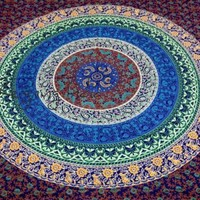 Indian Mandala Hippie Wall Hanging Tapestry Twin Bedspread Cotton Bedding 4359