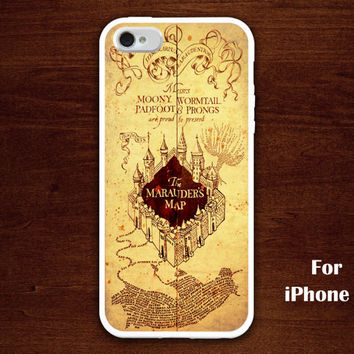 iPhone 5 Case, harry potter iphone case, marauder's map iphone 5 case, harry potter iphone 5 case