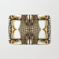 Go Gold Or Go Home Bath Mat by Louisa Catharine Art And Patterns