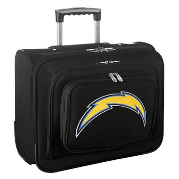 San Diego Chargers Carry-On Rolling Laptop Bag - Black - http://www.shareasale.com/m-pr.cfm?merchantID=7124&userID=1042934&productID=540322701 / San Diego Chargers