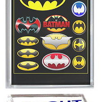 Batman Bat Signal History Acrylic Executive Display Piece Desk Top Paperweight