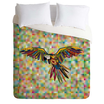 Sharon Turner Harlequin Parrot Duvet Cover