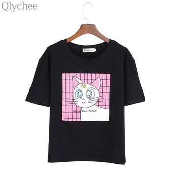 DCCKLG2 Sailor Moon Luna Cat T Shirt