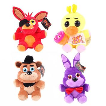 1PCS 15cm New  At  4 Toy Doll Cartoon  Freddy Fazbear Bear Foxy Stuffed Animals Kids Toys Gift
