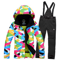 2015 High Quality  ski suits women's jacket+pants,snowboard clothes,snowboard ski jackets Sports Waterproof Windproof Breathable