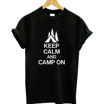 KEEP CALM AND CAMP ON T-Shirts - Women's Top Tee