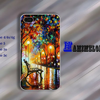 Oil painting Street lamp  IPhone 5s case IPhone 5c case IPhone 5 case IPhone 4 case Hard case soft  case iphone 4 case iphone 4s case 158