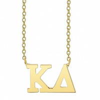 Kappa Delta Gold Vermeil Lavalier Necklace
