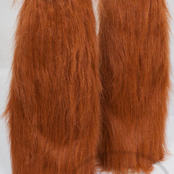 RUST Fluffies, Furry Legwarmers - 3 Styles to Choose from -  for raves, cosplay, fur outfits, costumes