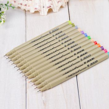 48 P Colors Fineliner Pens Marker Pen 0.3mm Minuteness Sketch Art Marker Water Pen copic markers Drawing Pens Brush Stationery
