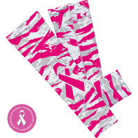 Pink / white digital ripped camo arm sleeve