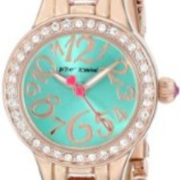 Betsey Johnson Women's BJ00282-03 Analog Display Quartz Rose Gold Watch