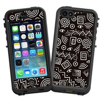 """Black and White Tribal """"Protective Decal Skin"""" for LifeProof nuud iPhone 5 Case"""